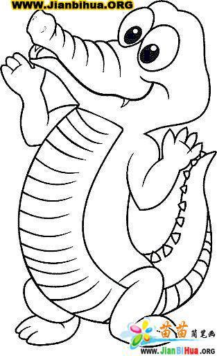 如何画鳄鱼简笔画图片教程 第10张