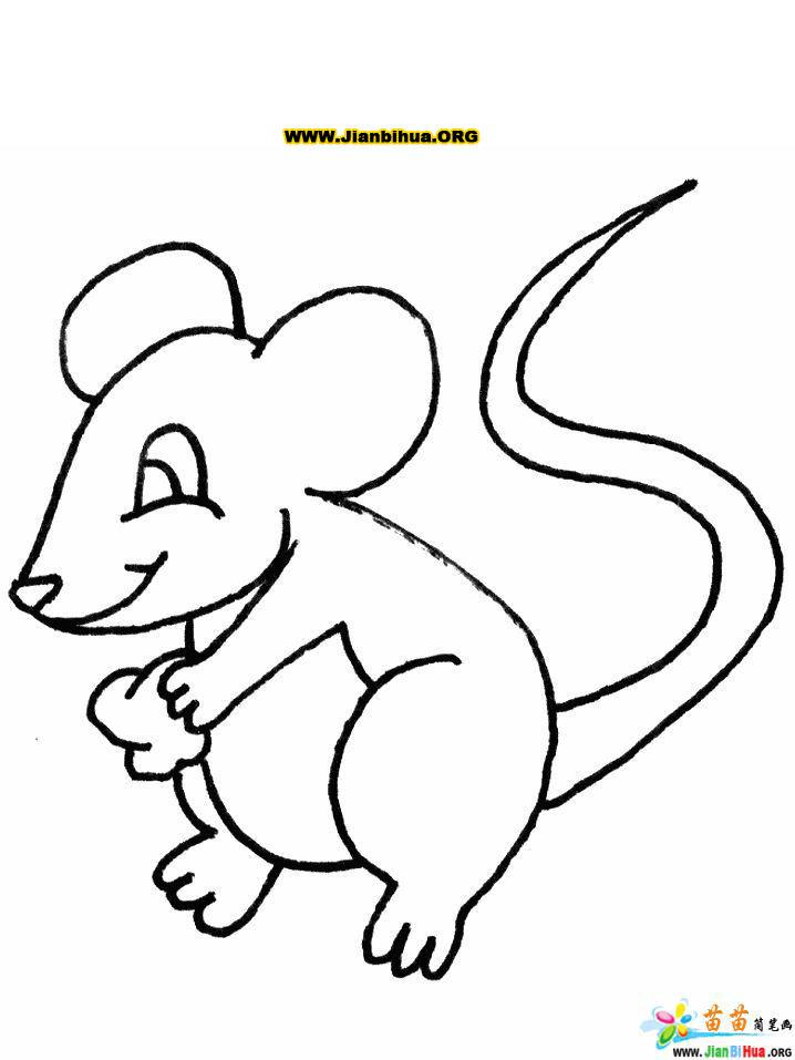 simple cartoon mice coloring pages - photo#22