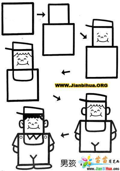 关于正方形组成的简笔画图片10张(第2张)