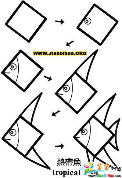 关于正方形组成的简笔画图片10张 第8张