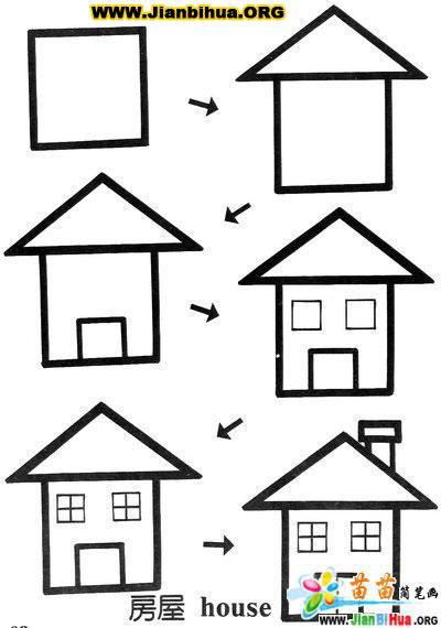 关于正方形组成的简笔画图片10张第16张