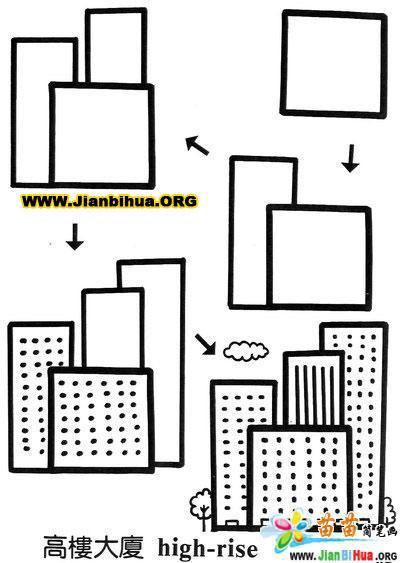 关于正方形组成的简笔画图片10张