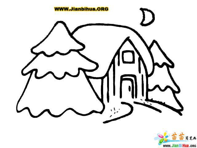如何画小村庄简笔画5张图片教程 第7张