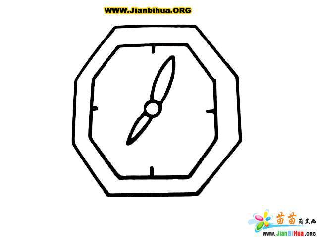 如何画卡通钟表简笔画图片教程(第6张)
