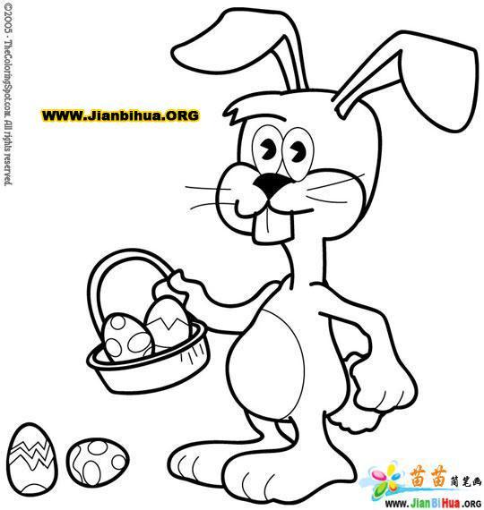 如何画卡通兔子简笔画图片教程 第3张
