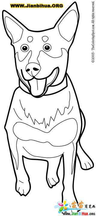 怎么画小狗简笔画