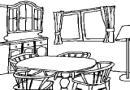 餐厅简笔画作品