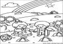 卡通小孩子简笔画作品4张