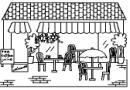 咖啡馆简笔画图片