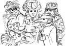 国外节日狂欢节简笔画图片