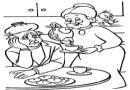 大脚鸭涂色卡图片――猫和老鼠中的小鸭子