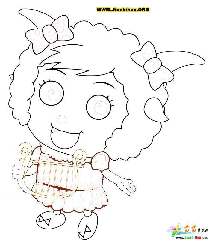 喜洋洋简笔画大全u - 喜洋洋; 喜洋洋   儿童简笔画图片大; 喜洋洋简