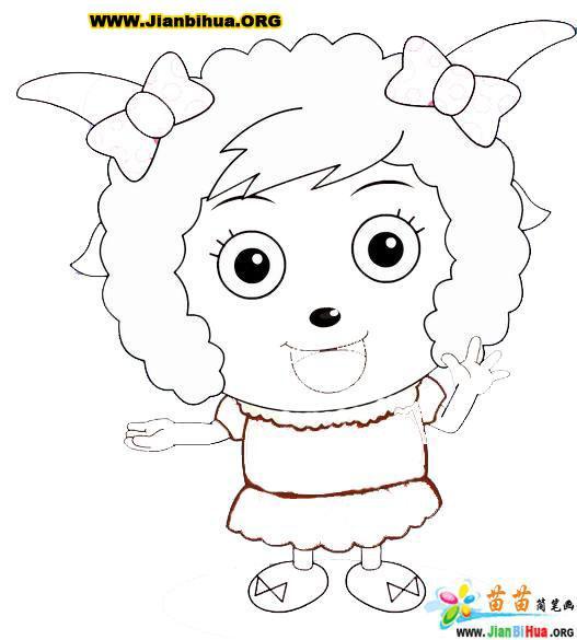 美羊羊简笔画图片 喜羊羊 儿童简笔画图片大全