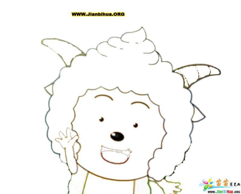 图片_喜洋洋美羊羊简笔画_银澜手机图片壁纸大全; 喜洋洋洋大观简笔画