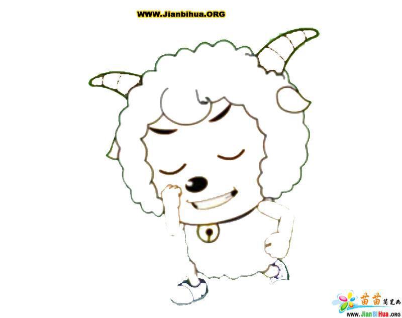喜羊羊与灰太狼简笔画44张 第21张