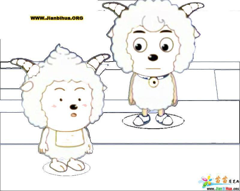 design 喜羊羊与灰太狼简笔画44张第18张  喜羊羊图片大全可爱简笔画