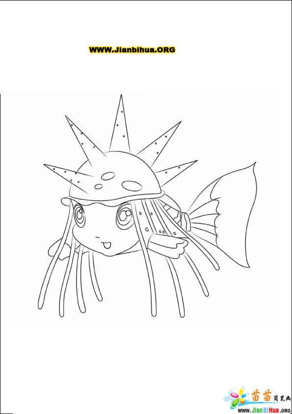 小鲤鱼历险记的简笔画图片10张