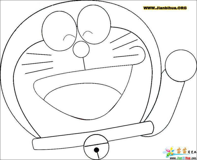 哆拉a梦机器猫简笔画27张(第7张)