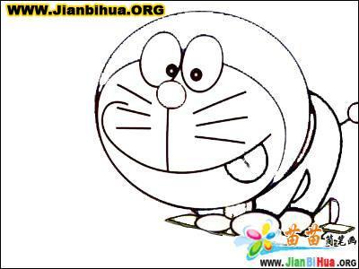 哆拉A梦机器猫简笔画27张 第13张
