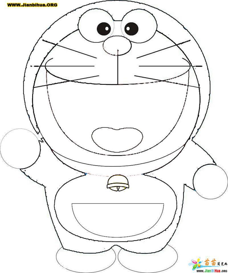 叮当猫表情简笔画_叮当猫表情简笔画分享展示
