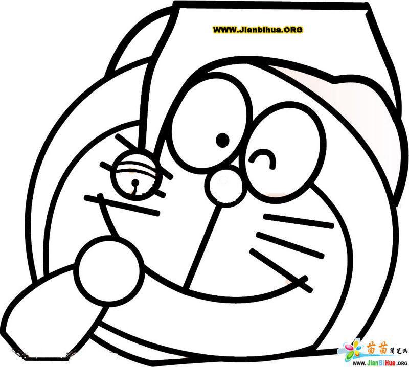 哆拉A梦机器猫简笔画27张 第20张