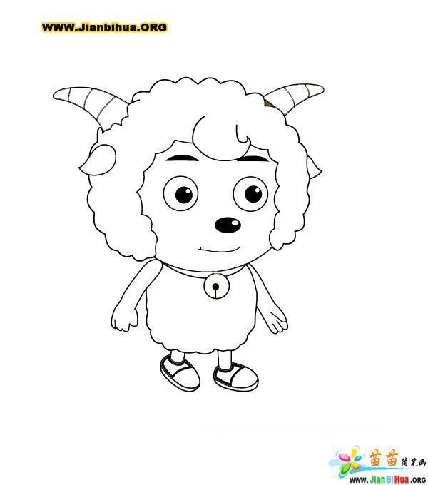 喜羊羊简笔画图片(16张)(第14张)