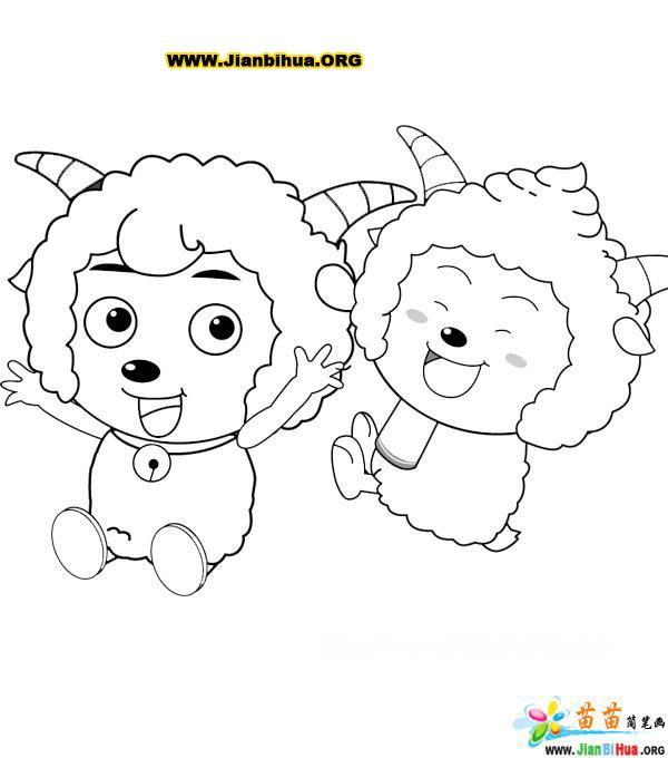 喜羊羊简笔画图片(16张)