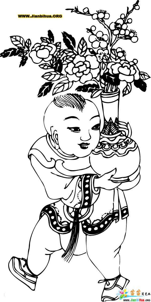 中国民间人物简笔画图片3张
