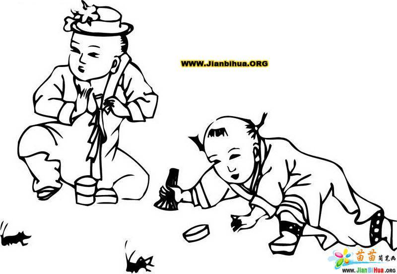 中国民间人物简笔画图片3张 第2张