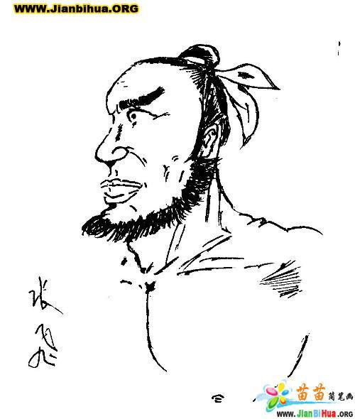 三国演义人物张飞简笔画图片(3张)(第3张)