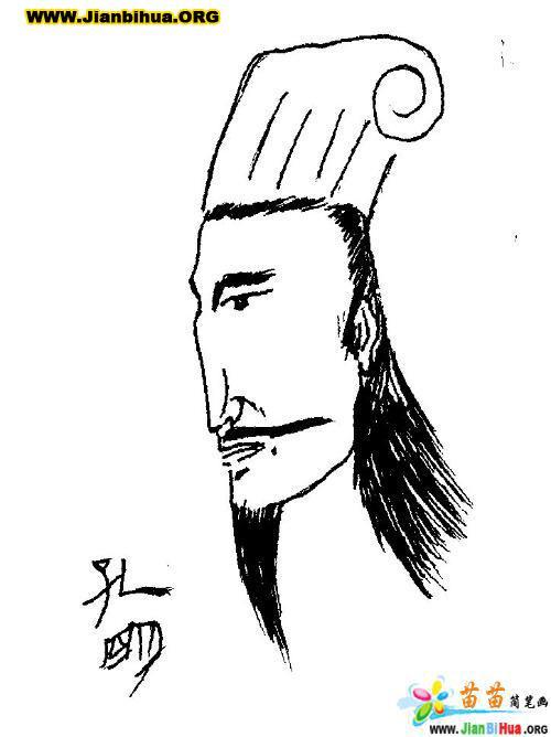 三国演义简笔画图片――诸葛亮