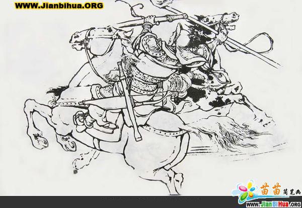 三国人物简笔画