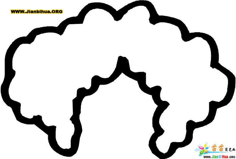 人体五官简笔画图片--头发10张(第2张)