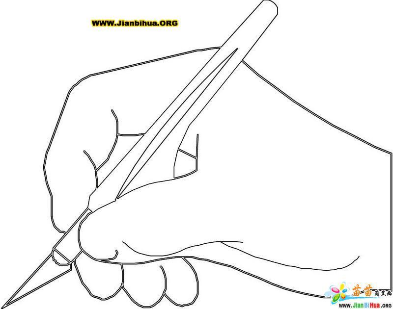 手握钢笔的简笔画(人物篇)