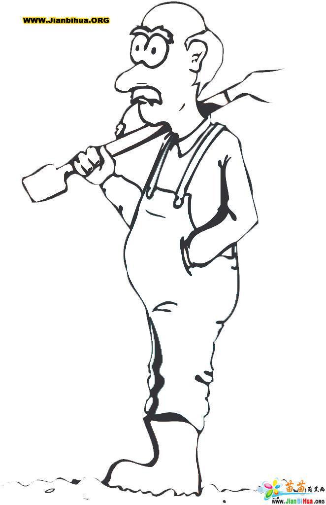 农民的简笔画画法