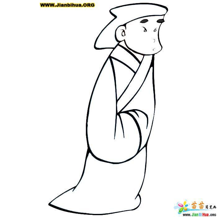 古代卡通人物简笔画图片(11张)