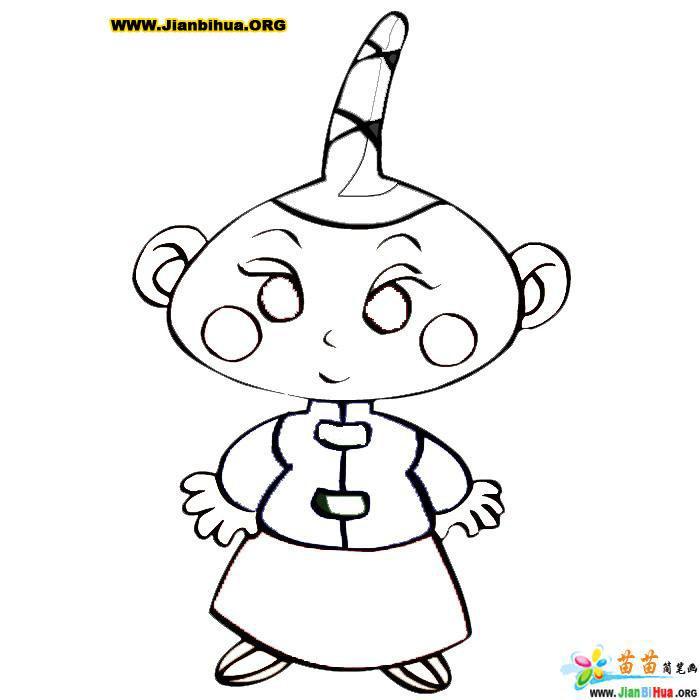 儿童人物简笔画――三岁小孩