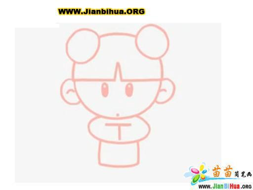 中国娃娃简笔画图片图片