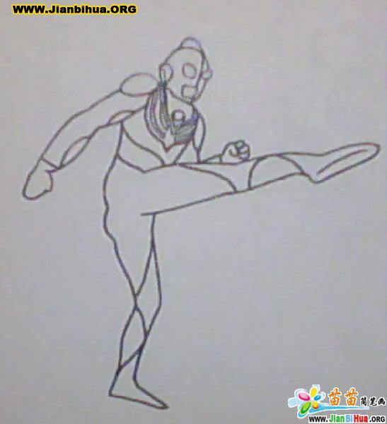奥特曼动画简笔画47张(思索篇和奋进篇)(第4张)图片