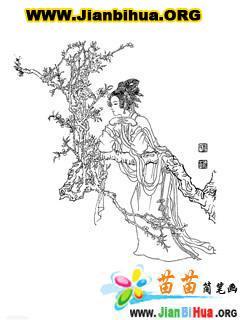 古代人物的简笔画图片99张
