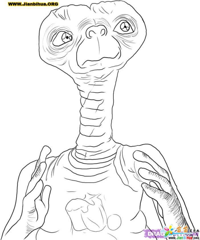 外星人科幻简笔画7张 第6张