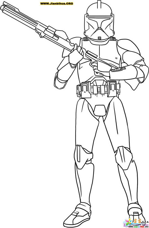 星球大战之战士简笔画2张图片