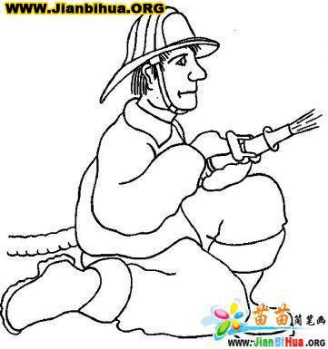 电影 消防员 工具简笔画