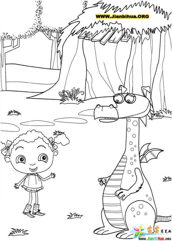 漂亮的小女孩简笔画28张图片