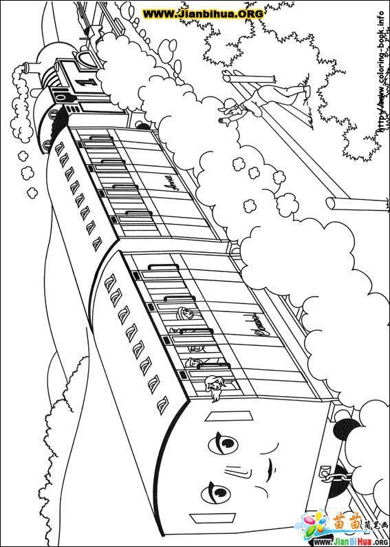 托马斯与小火车简笔画39张第10张