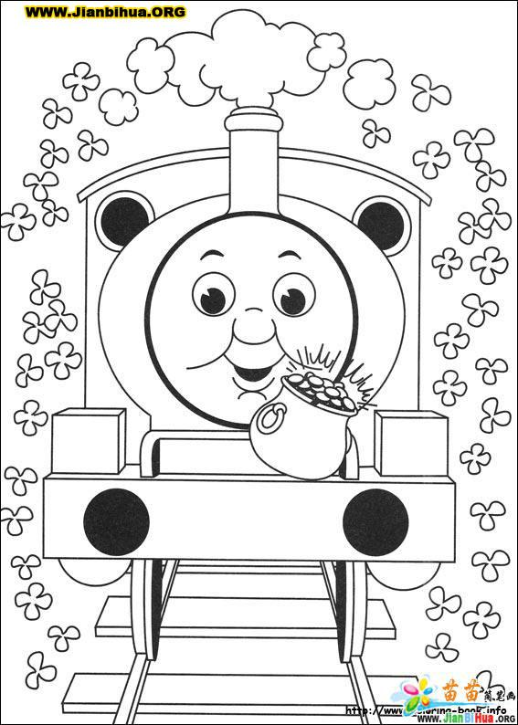 托马斯与小火车简笔画39张
