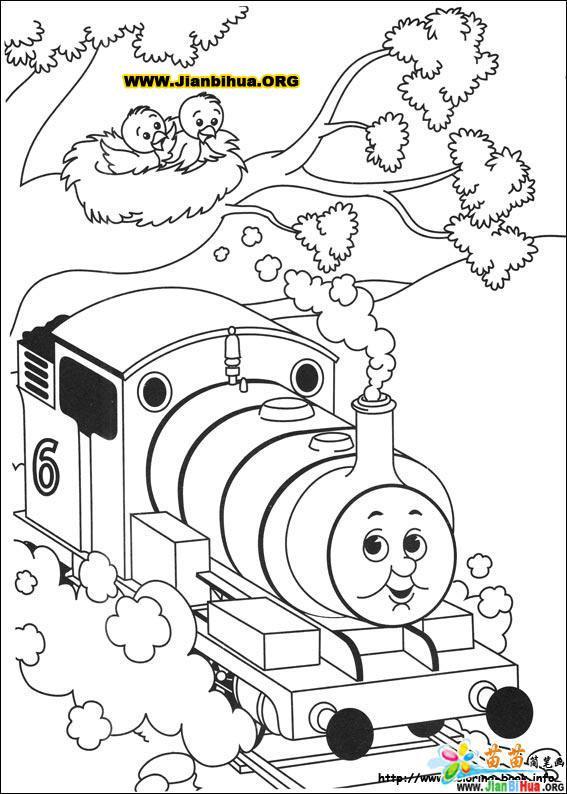 托马斯与小火车简笔画39张(第13张)