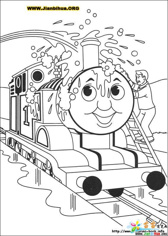 托马斯与小火车简笔画39张(第14张)
