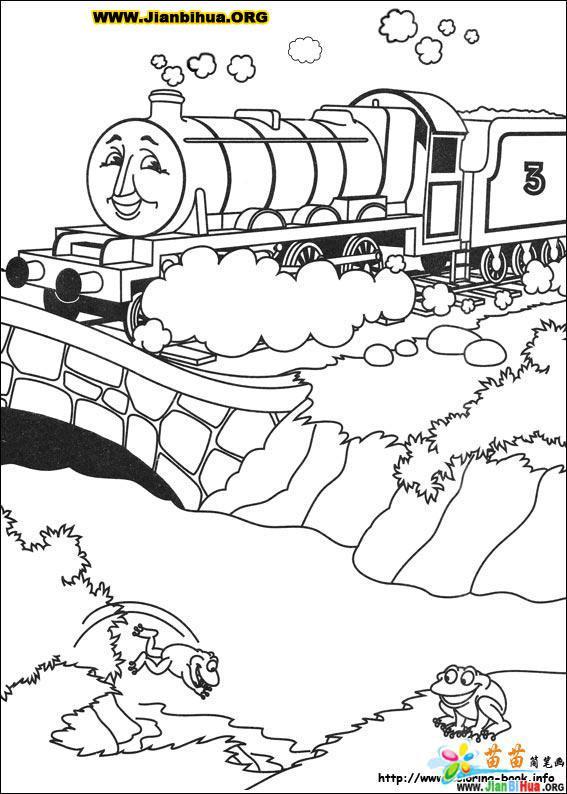 托马斯与小火车简笔画39张(第18张)