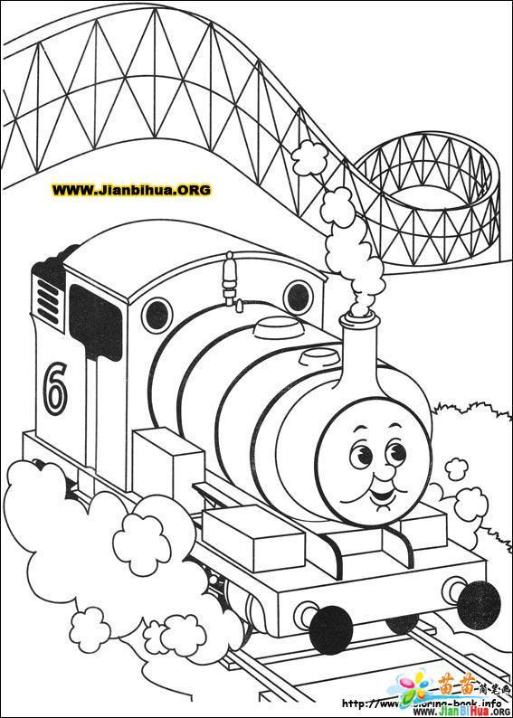 托马斯与小火车简笔画39张 第23张